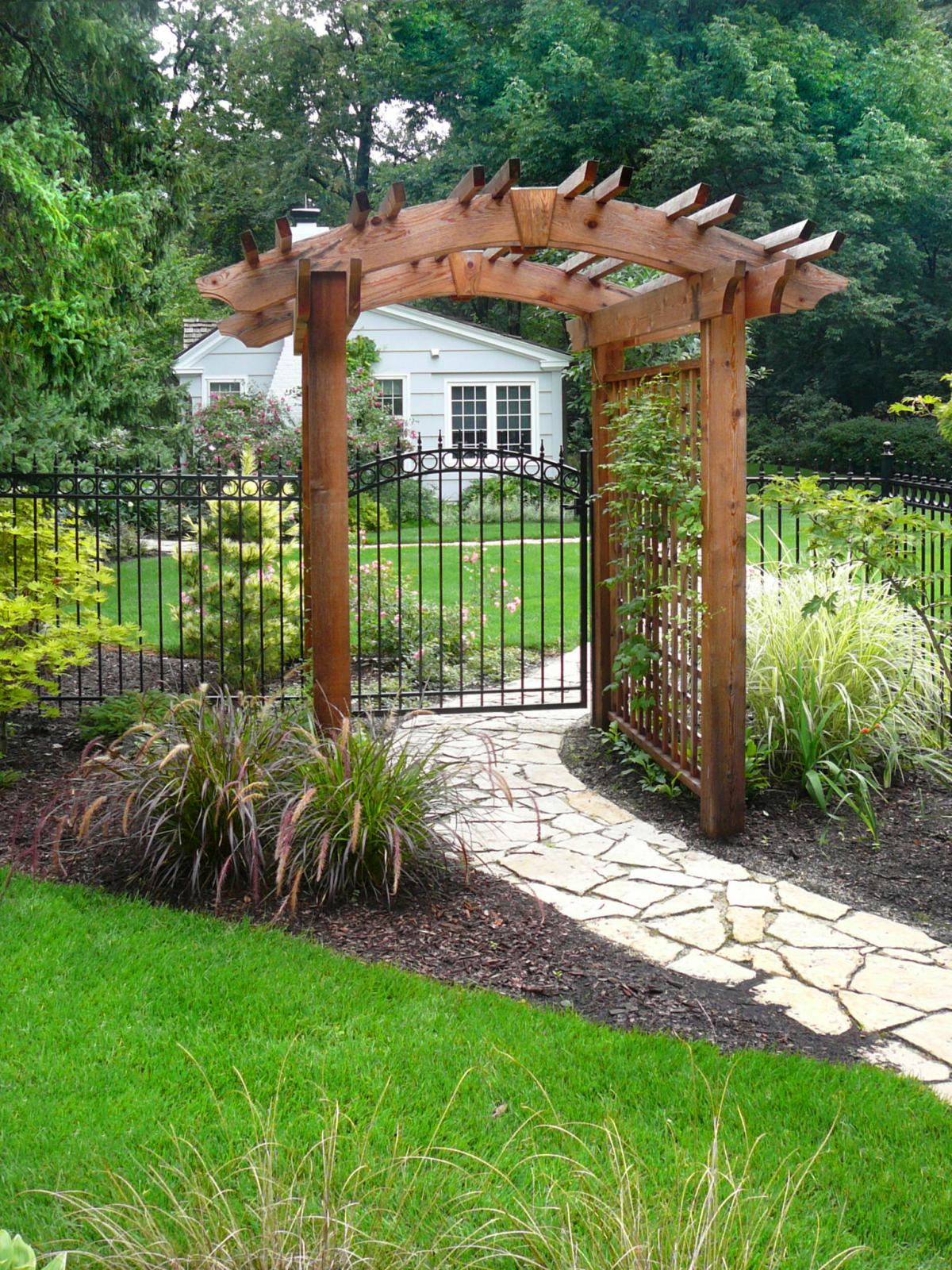 Custom Cedar Trellis And Pergola Designed, Constructed And Installation By  Stonewood Design Group